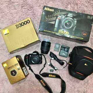 Nikon D3000 (Complete Package)