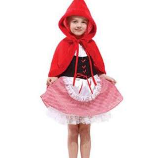 BN Halloween little red hiding hood costume 110cm/120cm