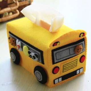 Free cut doodle school bus boxing sets of non-woven DIY paper towel kits material package