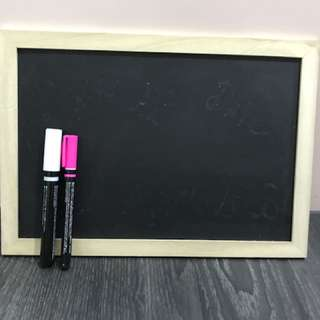 Chalkboard with Markers