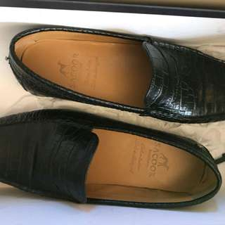 Sacoor Crocodile Leather Loafers