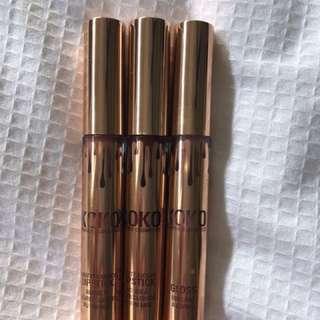 3 Kylie koko collection lipsticks