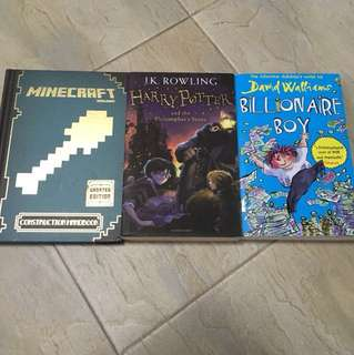 3 books for sale! ALMOST BRAND NEW!