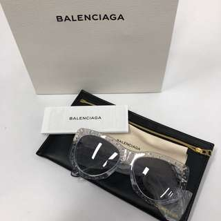 Balenciaga bubble sunglasses and sunglasses case