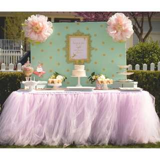 Blush Pink Tutu Table Skirt