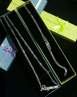 Persinalize necklace and bracelate