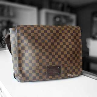 Authentic Louis Vuitton Damier Ebene Brooklyn LV