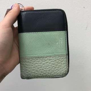 100% ORI fossil Wallet Blue