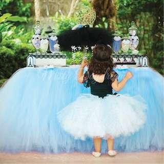 Baby Blue Tutu Table Skirt