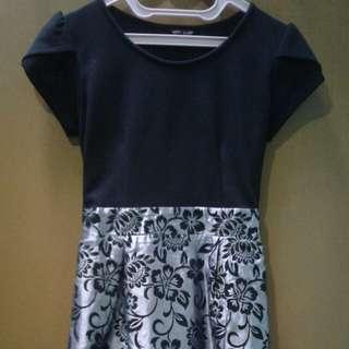 Dress Party Black & Motif