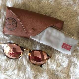 Rayban mirrored round tortoise shell RB2447 Sunglasses RAY-BAN