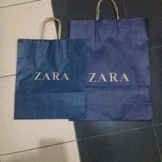 ZARA PAPER BAG 2 Pcs