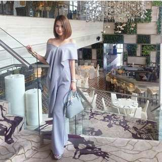Jumpsuit bahan scuba stretch