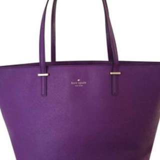 Kate Spade Cedar Street Harmony saffiano leather purple tote bag
