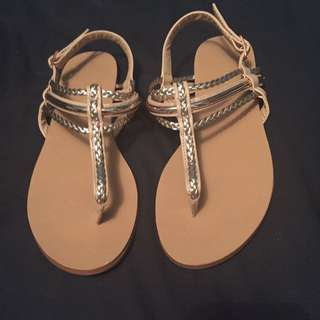 Forever new sandals (beige/gold)