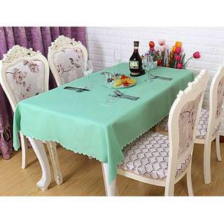 Polyester Fabric Tablecloth – Tiffany Green