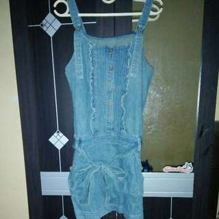 Skirt overall jeans