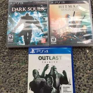 ps3 ps4 games dark souls hitman outlast trinity