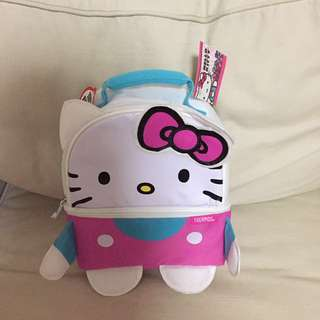 SALE 40% Off - BN Authentic Thermos Hello Kitty Lunch bag (2 zip thermal compartments)