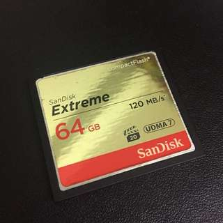 Sandisk Extreme Compact Flash 64GB 120mb/s