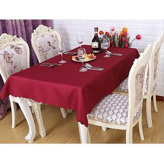 Polyester Fabric Tablecloth – Burgundy