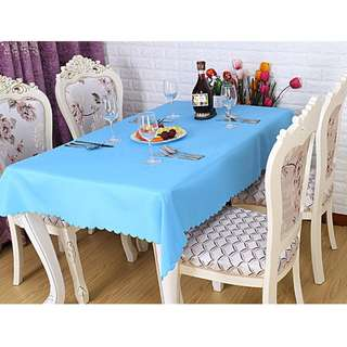Polyester Fabric Tablecloth – Blue