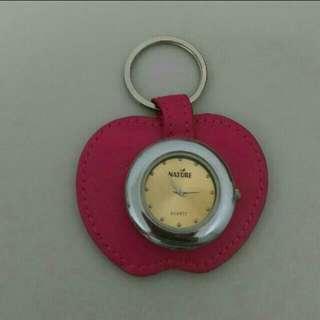 鑰匙圈蘋果吊錶+鏡子