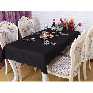 Polyester Fabric Tablecloth – Black