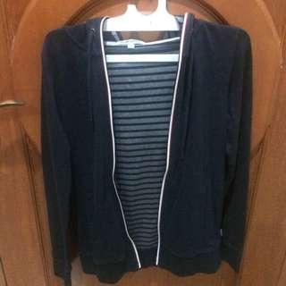 hoodie baleno pria original sz S biru navy