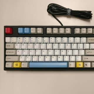 9 mth old WASD V2 87-Key Custom Mechanical Keyboard Blue Switch