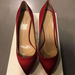 Brand new Charlotte Olympia Satin Heels 鞋 (shoes)