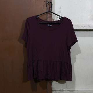 REPRICED ⚡MAROON TOP