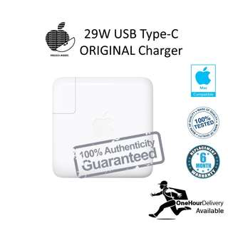 Original Apple Macbook 29W USB Type-C Charger and DC Line