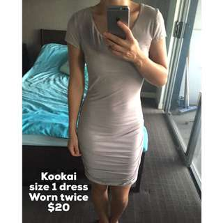Kookai Size 1 Beige Dress