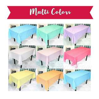 Party Tablecloth : Multi-Colors