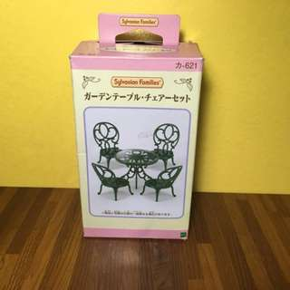 Sylvanian Families Ornate Garden Table & Chairs Set.