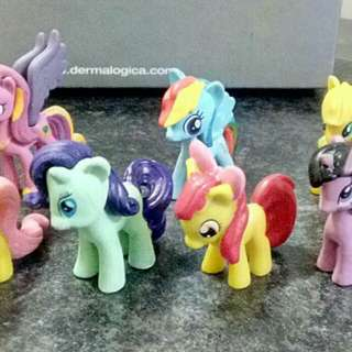My Little Pony 12pcs Figurines Toy Cake Topper