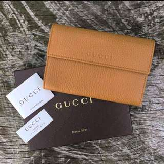 NEW Gucci French Flap Wallet Leather
