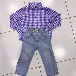 Set of H&M top with Esprit Jeans