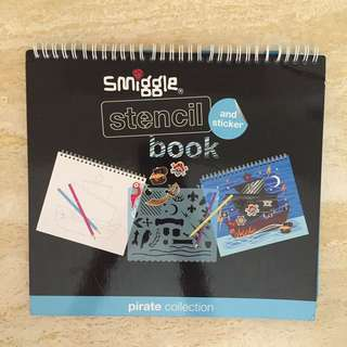 Pirates stencil book from Smiggle.
