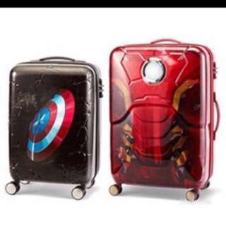 Marvel Ironman Captain America Samsonite 行李箱