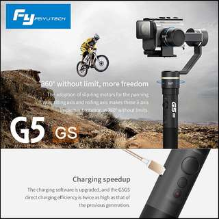 Feiyu G5GS Gimbal for Sony AS50 AS50R AS300 AS300R Sony X3000 X3000R Splash Proof 3-Axis Handheld Stabilizer/ Free GP PowerBank!