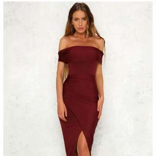 Hello Molly Made of Lightning Burgundy Dress