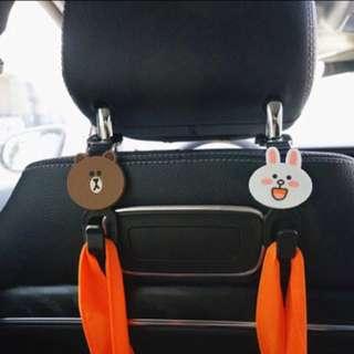 2pc Line Multipurpose Car Seat Headrest Hook