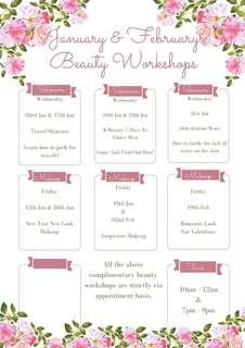 Free beauty workshops