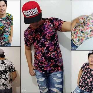 Tropical floral tee's