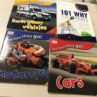 3 DK transport books & 101 WHY