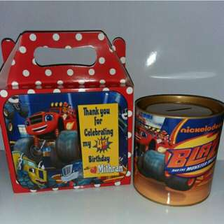 Customised Blaze & The Monster Machine Goodie bag