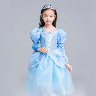 Girl Princess Cinderella Halloween Cosplay Fancy Dress Beauty Xmas Costume