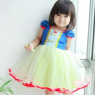 Baby Snow White costume princess dress for toddlers and girls 1-5y